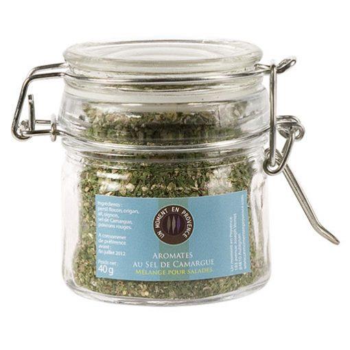 Bocal de mélange pour salades, aromates au sel de camargue