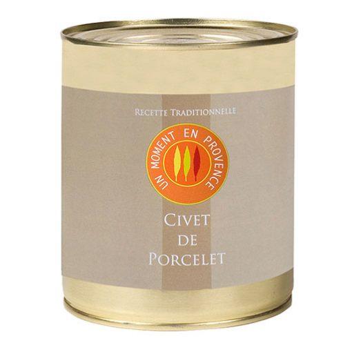 Conserve de civet de porcelet