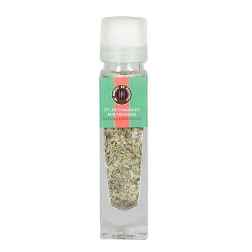 Moulin pour mélange grillades, sel de Camargue aux aromates