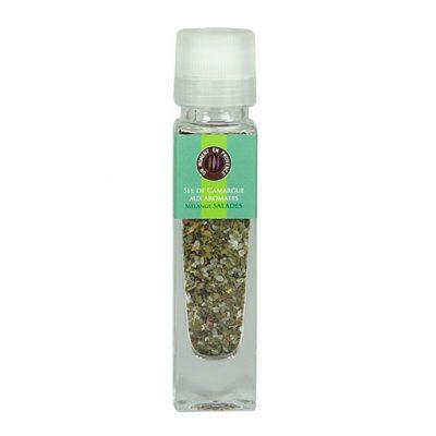 Moulin pour mélange salades, sel de Camargue aux aromates