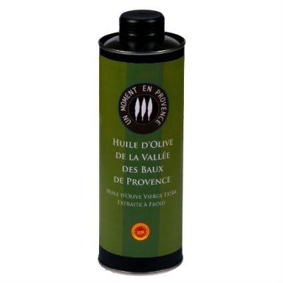 Bouteille d'huile d'olive de la vallée des baux de provence